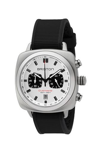 Briston / Clubmaster Sport Acier - Chronographe cadran blanc