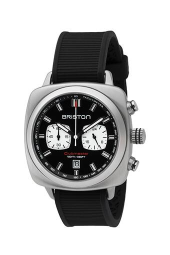 Briston / Clubmaster Sport Acier - Chronographe cadran noir