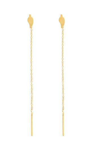 Chan Luu / Boucles d'oreilles or feuilles