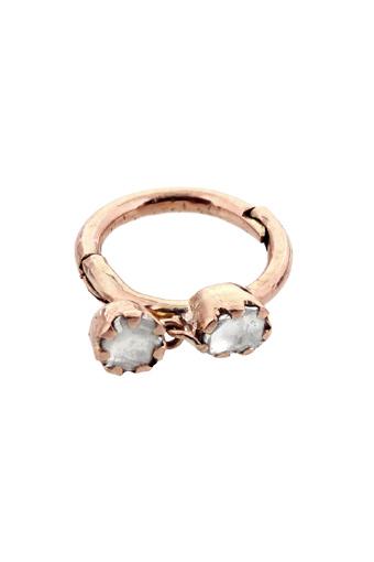 Pascale Monvoisin / Boucle d'oreille Lara hoop diamant