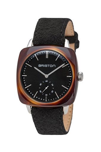 Briston / Clubmaster Vintage Acétate Petite Seconde écaille de tortue cadran noir
