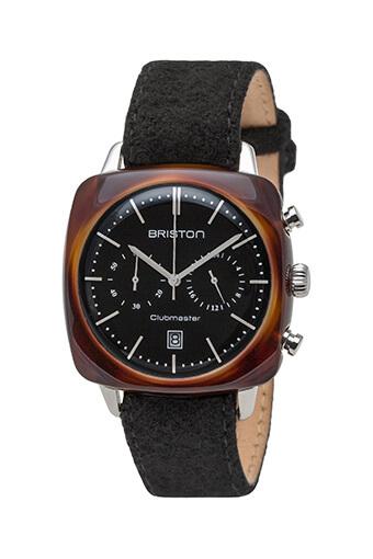 Briston / Clubmaster Vintage Acétate Chronographe écaille de tortue cadran noir