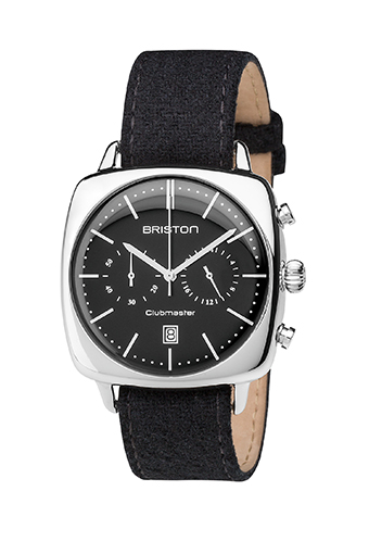 Briston / Clubmaster Vintage Acier Chronographe cadran noir