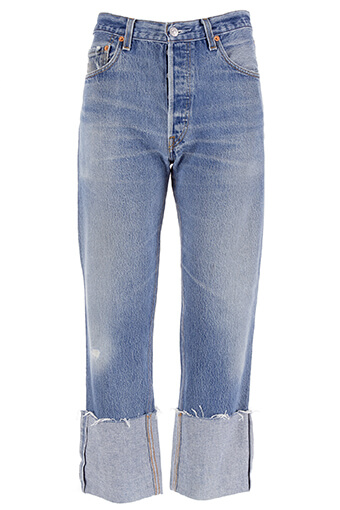 Re / Done / Jean High Rise Straight Cuffed
