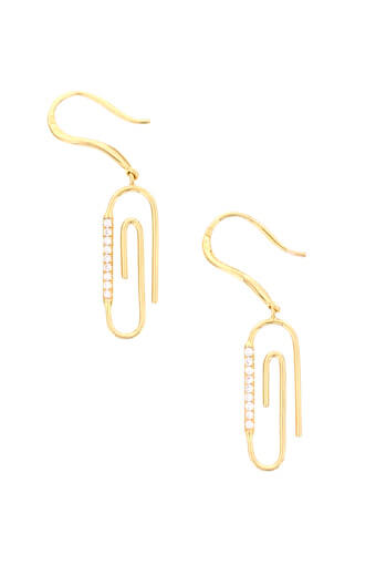 Aurélie Bidermann / Boucle d'oreille Trombone avec diamants