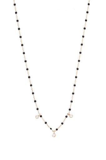 Gigi Clozeau / Collier or rose, perles de résine et 3 diamants