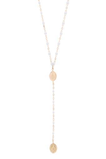 Gigi Clozeau / Collier chapelet madone or rose et perles de résine
