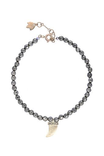 Feidt / Bracelet Corne sur pyrite or jaune
