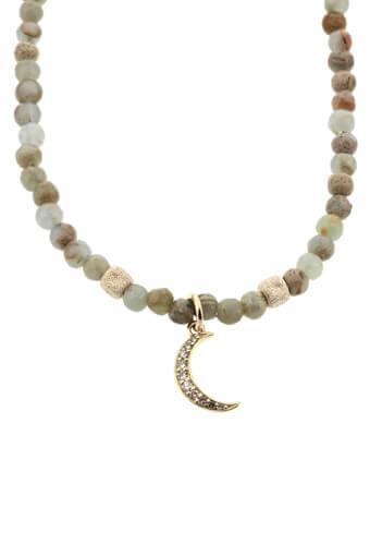 Catherine Michiels / Collier Moon en opale