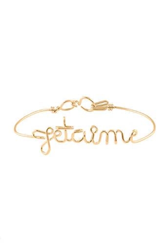 Atelier Paulin / Bracelet en cuivre doré à l'or fin 6 à 10 lettres