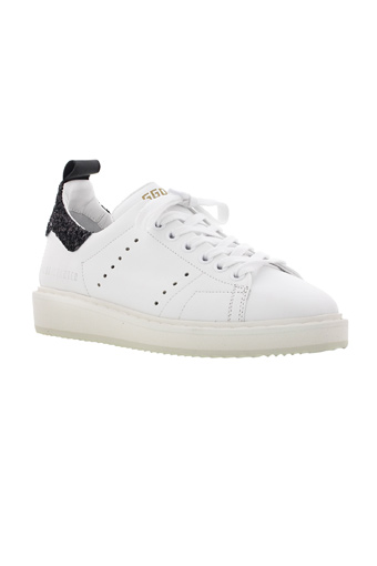 Golden Goose / Sneakers Starter white black glitter