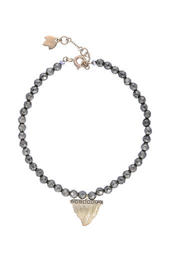 Feidt / Bracelet Dent de requin pyrite et marcassite or 9 carats