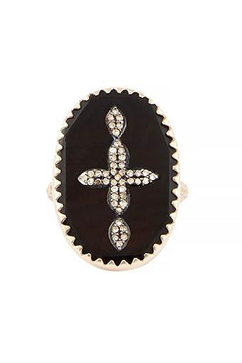 Pascale Monvoisin / Bague Bowie N°3 noir et diamants