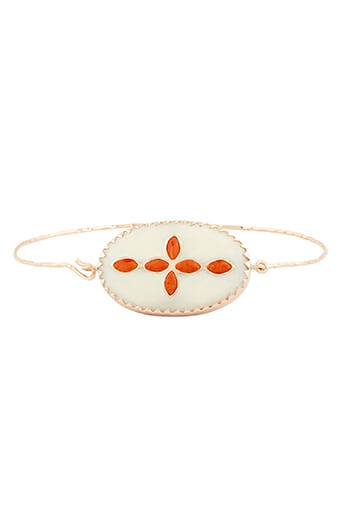Pascale Monvoisin / Bracelet Garance N°2 os et corail