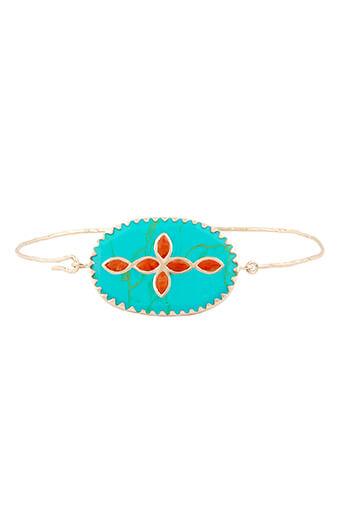 Pascale Monvoisin / Bracelet Garance N°2 turquoise et corail