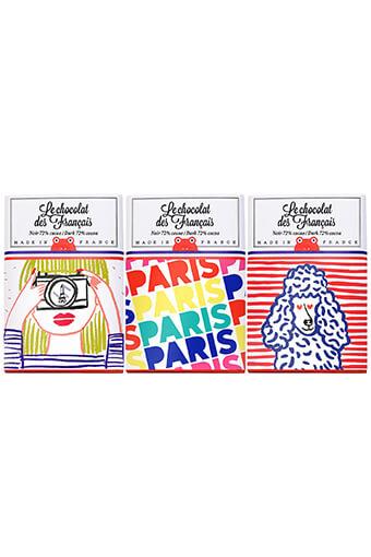 Le chocolat des Français / Coffret de 3 mini-tablettes de chocolat 30g