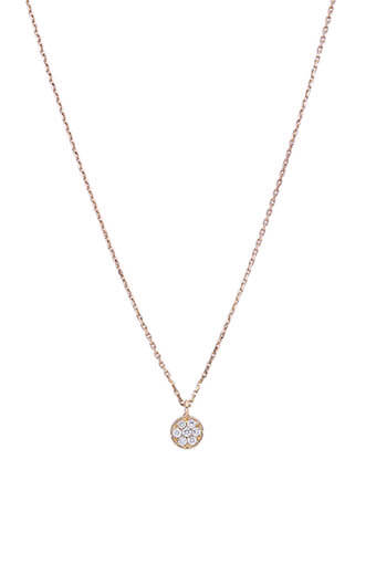 Gigi Clozeau / Collier or rose puce diamants