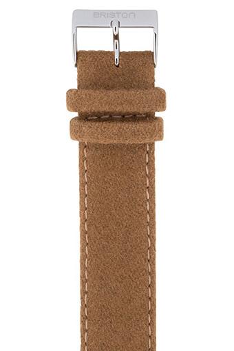 Briston / Bracelet interchangeable Nato en cuir et flanelle - Camel
