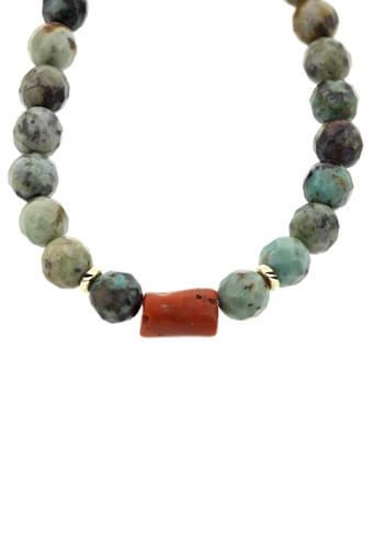 Catherine Michiels / Bracelet Turquoise et Corail