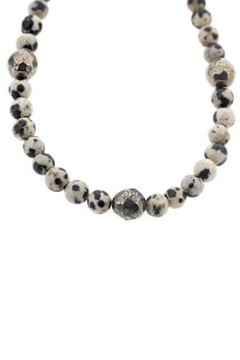 Catherine Michiels / Bracelet Jasper Dalmatian et pyrite
