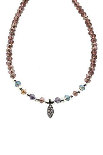 Catherine Michiels / Bracelet Bohémien en crystal multicolore et diamants