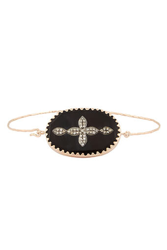 Pascale Monvoisin / Bracelet Garance n°2 corne noire et diamants