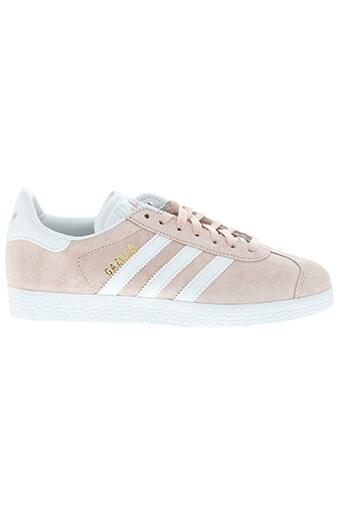 Adidas Originals / Gazelle rose et blanche