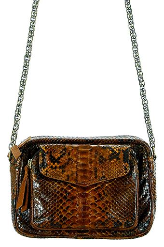 Claris Virot / Sac Bandoulière Charly chaine bronze