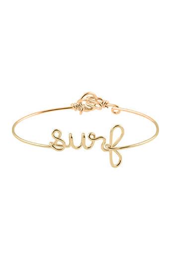 Atelier Paulin / Bracelet en cuivre doré à l'or fin 1 à 5 lettres (personnalisation)