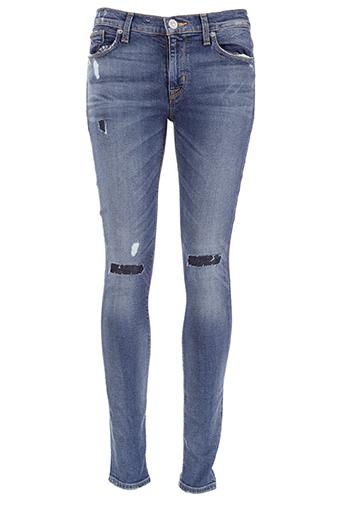 Hudson / Jean Nico midrise super skinny bleu empiècement genoux
