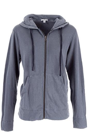 James Perse / Veste à capuche Homme en coton pima