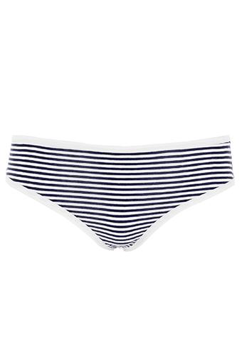 American Vintage / Culotte rayée bleu et blanc