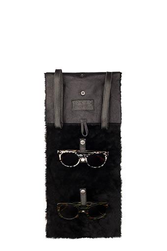 Nathalie Blanc / Etui de voyage en fourrure pour 4 lunettes