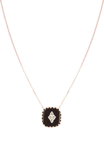 Pascale Monvoisin / Collier Pierrot n°2 Noir et diamants