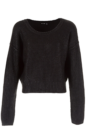 Blk Dnm / Pull cropped