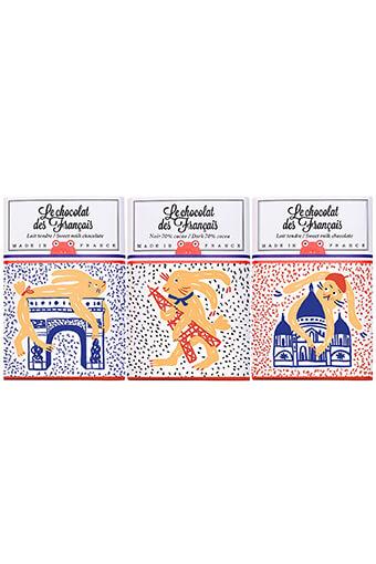 Le chocolat des Français / Trio de 3 tablettines de 30 grammes