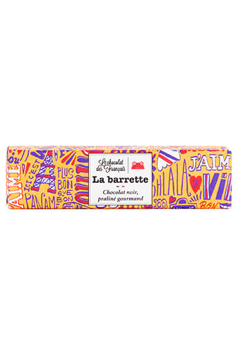 Le chocolat des Français / La barrette chocolat noir, praliné gourmand 40 gr