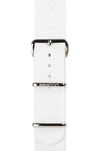 Briston / Bracelet type NATO blanc - Clubmaster Chic
