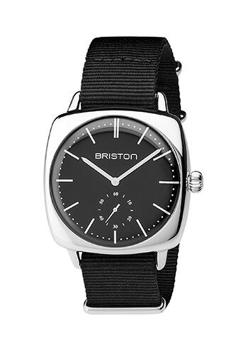 Briston / Clubmaster Vintage Acier - Petite seconde cadran noir