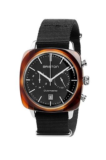 Briston / Clubmaster Vintage Acétate - Chronographe écaille de tortue cadran noir