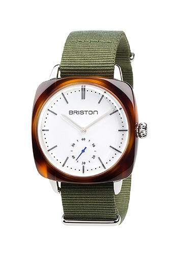 Briston / Clubmaster Vintage Acétate - Petite Seconde écaille de tortue cadran blanc