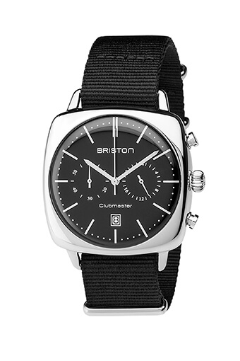 Briston / Clubmaster Vintage Acier - Chronographe cadran noir