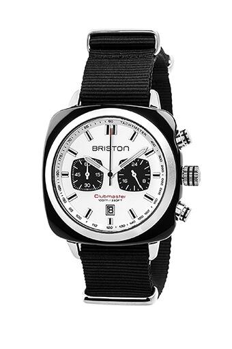 Briston / Clubmaster Sport Acétate - Chronographe noir cadran blanc