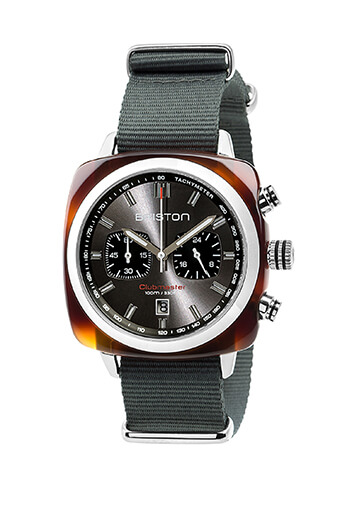 Briston / Clubmaster Sport Acétate - Chronographe écaille de tortue cadran gris soleillé