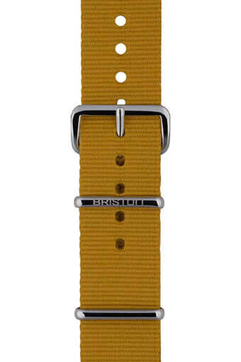 Briston / Bracelet type NATO Jaune moutarde 280mm