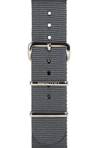 Briston / Bracelet type NATO gris 230mm - Clubmaster Chic