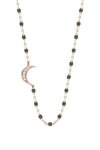 Gigi Clozeau / Collier  perles de résine et lune diamants
