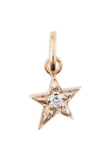 Gigi Clozeau / Pendentif étoile en or rose et diamants