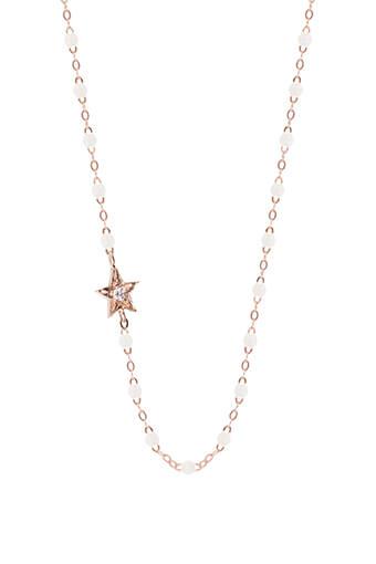 Gigi Clozeau / Collier perles de résines et étoile diamant
