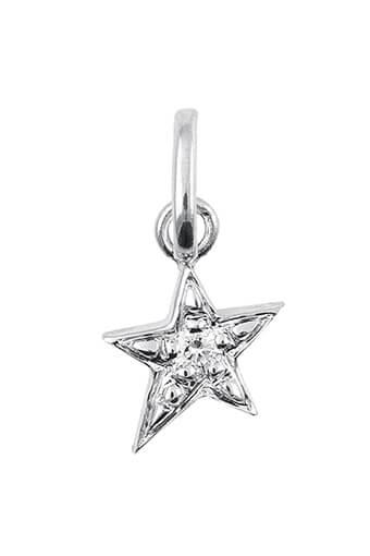 Gigi Clozeau / Pendentif étoile or gris et diamants